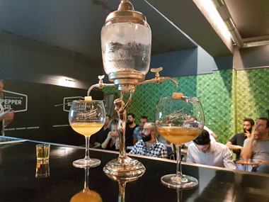 La Fée Absinthe fountain at masterclass in Lisbon Oct 2017