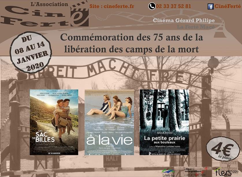 Cinéma, Commémoration des 75 ans de la libération des camps de la mort