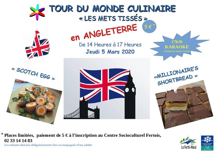 Tour du monde culinaire 2020