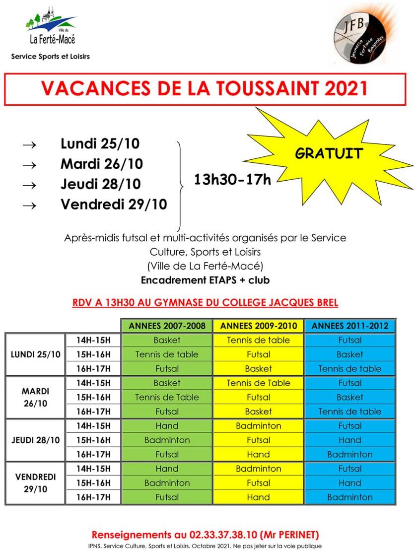 Multi-activités Toussaint 2021
