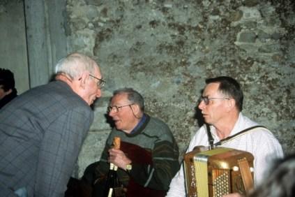 Elie Panouillère, Joseph Ruols (cabrette) et André Raynal (accordéon)