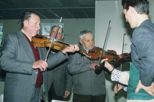Jean-Marie Chassagne et Eugène Amblard au violon