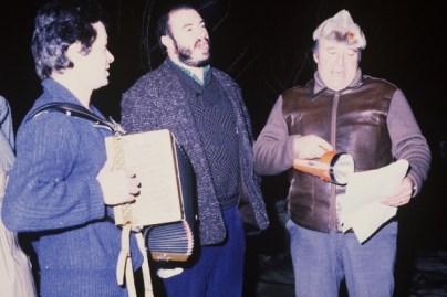Jac Lavergne (accordéon), André Ricros (chant) et Jean Farges (chant)