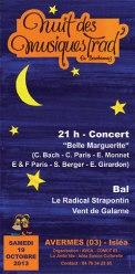 affiche Nuit des M.Trad Avermes