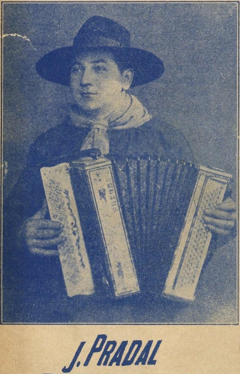 Jean Pradal (détail d'une partition des éditions M. Cayla)