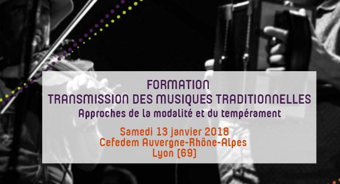 Formation Transmission des Musiques Traditionnelles