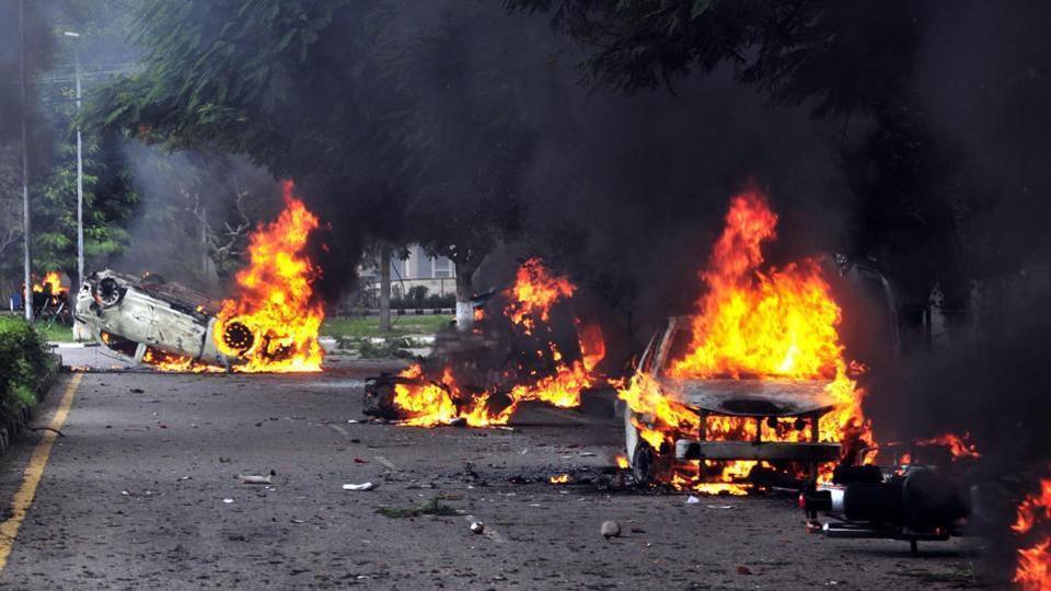 Padmavati Panchkula Violence-Laffaz-Media-HT