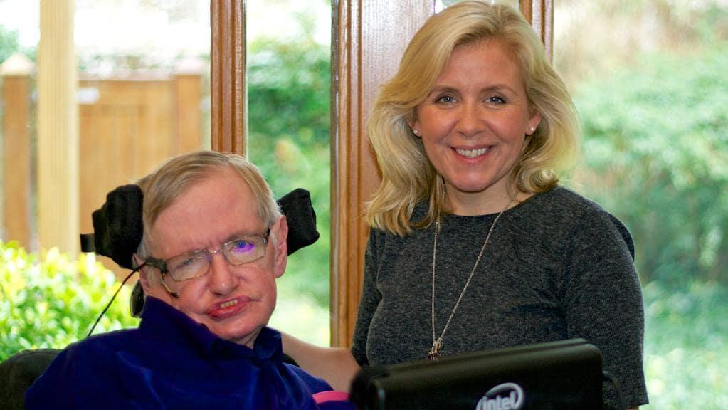 Stephen Hawking with Daughter Lucy Hawking-Laffaz