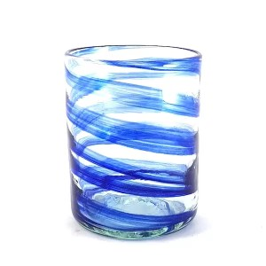 glass blue handmade