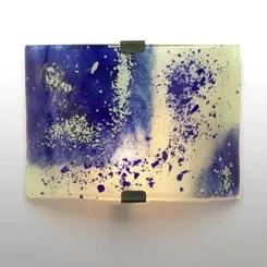 plafón de pared de vidrio color azul