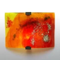 aplique de pared ondulado naranja