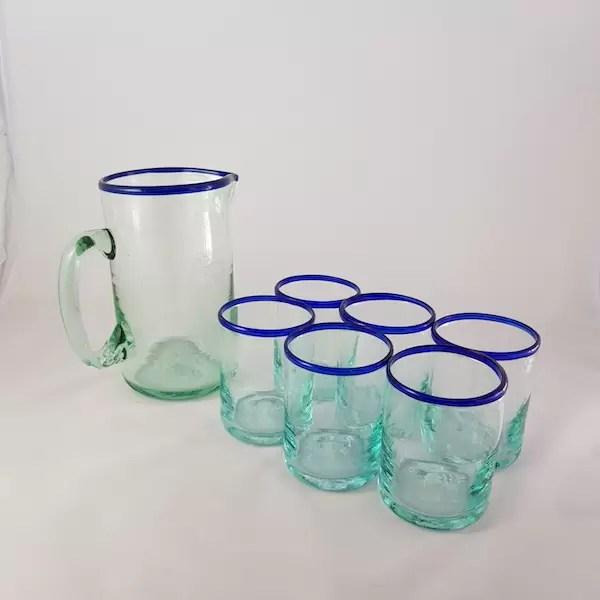 set cristaleria jarra y vasos