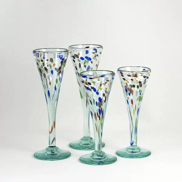 Copas de Vidrio Colores - Genießen Sie am Tisch