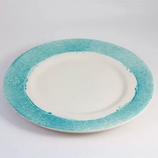 plato de ceramica mallorca turquesa