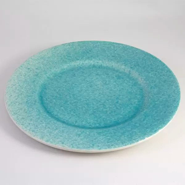 plato cerámica mallorca turquesa