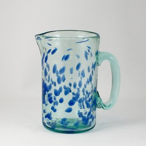 Glass Pitcher Blue See Lafiore Majorca