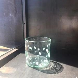 vaso vidrio glass white blanc lafiore - Vaso de Vidrio Blancs