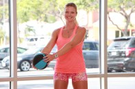 Danica performing figure eight at LA Fitness - 8