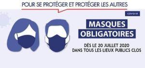 Port du masque est obligatoire dans les lieux publics clos