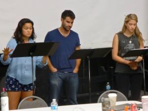 Actors: Emily Reas, Bernardo Cubria and Kaylie Hyman;  Photo by Joe Luis Cedillo, Associate Artistic Director and Dramaturge for (O)n THE 5:31.