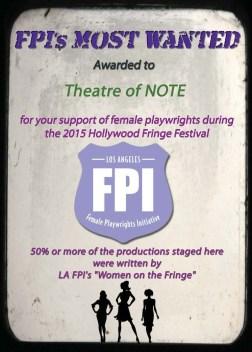 NOTE Fringe Award