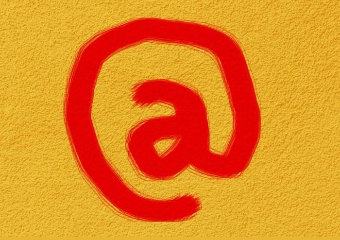 No, Internet, Correio, Email, Caracteres, Amarelo