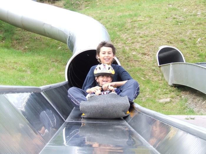 Children, Slide, Fun, Activities