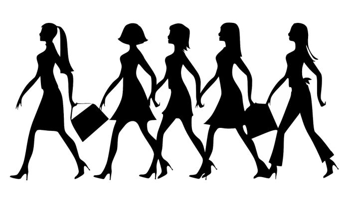 silhouette women work free picture