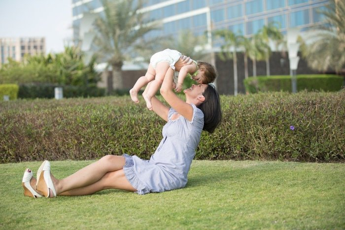 Mother, Daughter, Family, Park, Child, Love, Nature