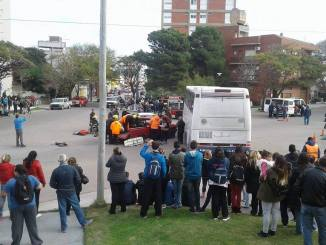 Simulacro de accidente en Monte Hermoso