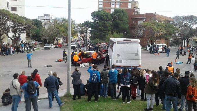 Simulacro de accidente en Monte Hermoso