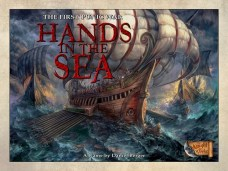 Hands in the sea