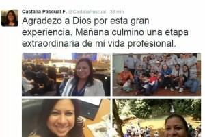 Castalia Pascual se va del Gobierno
