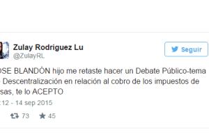 Diputada Zulay Rodriguez acepta el reto del Alcalde Blandón