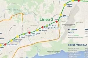 Construcción de la Línea 2 del Metro inicia el 5 de Octubre