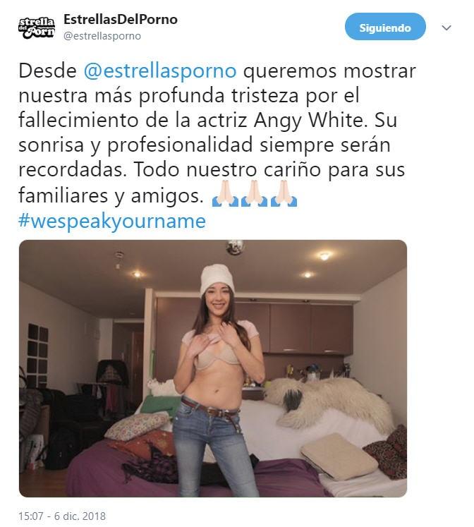 Estrellas Porno Angie White tweet