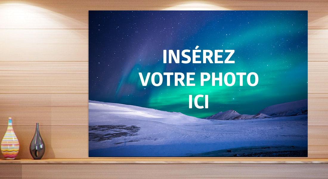 Ma photo 120 x 80 cm,sur un support au choix