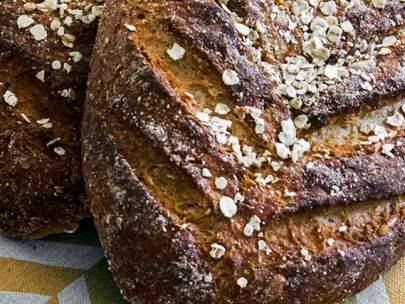 Glutenfritt bröd med havre och honung