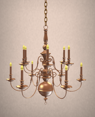 antique-brass-english-chandelier