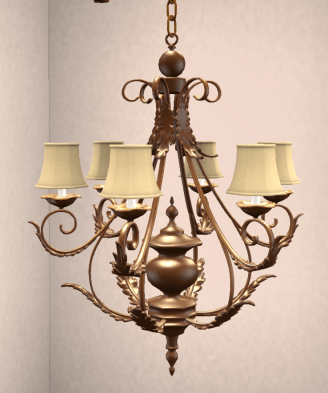 antique-brass-leaf-chandelier