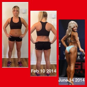 Brittany Moran - 2014 Ottawa Classic Bikini Overall Champion. Before and After 5 months later.