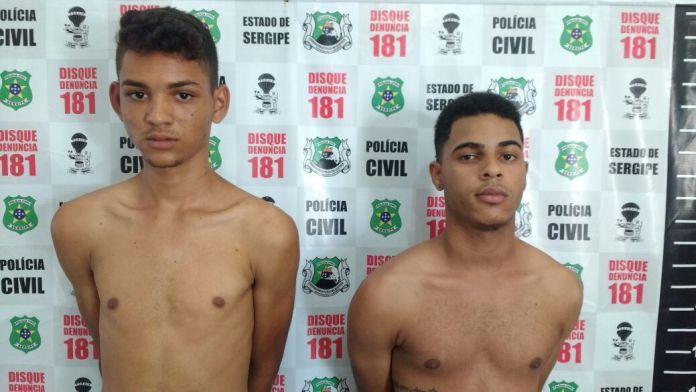 Alan Vinícius Santos Nascimento (esquerda) e Matheus Noberto Bezerra da Silva (direita). Foto: Polícia Civil