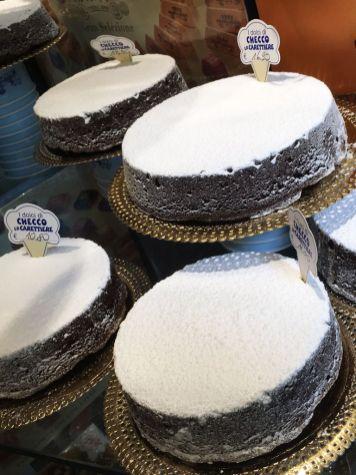 Torta Caprese en Pasticceria Checco Carettiere, Roma