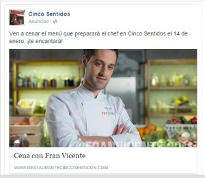 Promocionar un evento en tu restaurante. eventos gastronomicos, fran vicente, top chef, restaurantes madrid, marketing gastronomico, como promocionar un evento,