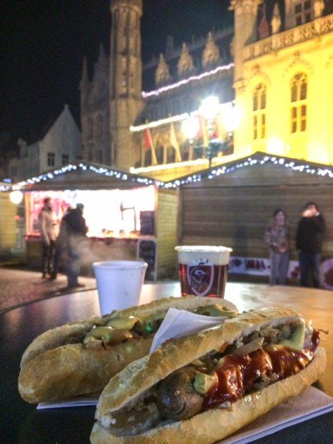 turismo brujas, salchichas belgica, viaje a bruselas