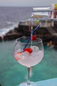 Gin Tonic · Restaurante La Gaviota · Piscinas La Fajana de Barlovento · La Palma · Islas Canarias