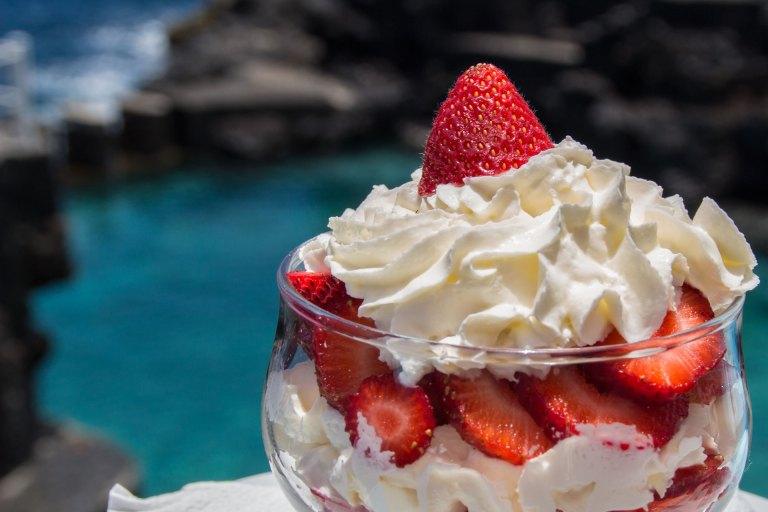Postres · Restaurante La Gaviota · Piscinas La Fajana de Barlovento · La Palma · Islas Canarias