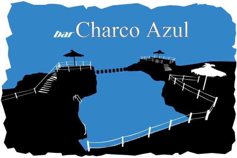 Logo Bar Charco Azul · Piscinas Naturales · San Andrés y Sauces · La Palma