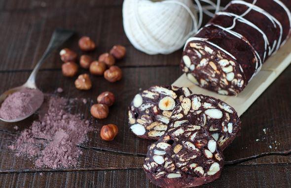 dolcissimo salame vegan di cioccolato