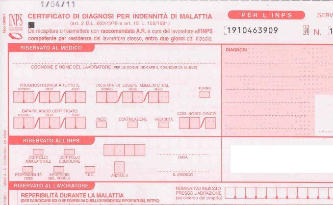 inps certificato medico